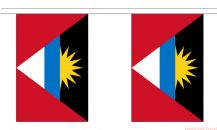 ANTIGUA & BARBUDA BUNTING - 9 METRES 30 FLAGS